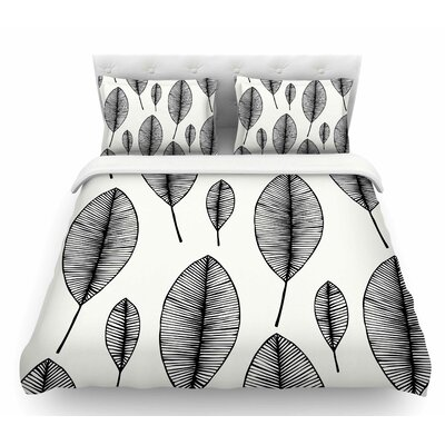 Leaves  Featherweight Duvet Cover Size: Queen