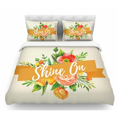 Shine On  Featherweight Duvet Cover Size: Twin