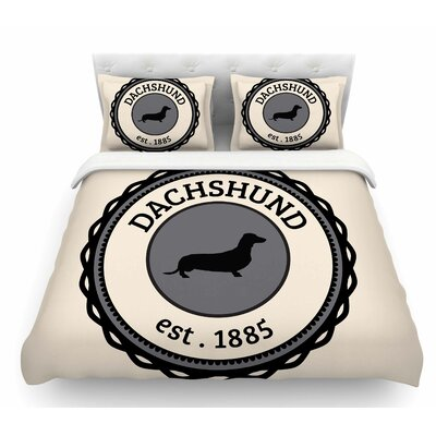 Dachshund  Featherweight Duvet Cover Size: Queen
