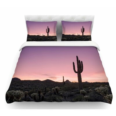Tucson Sunset  Tags Featherweight Duvet Cover Size: Queen
