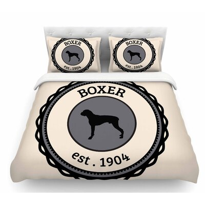 Boxer  Dogs Featherweight Duvet Cover Size: Queen