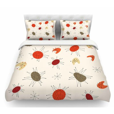 Retro Party  Featherweight Duvet Cover Size: Queen
