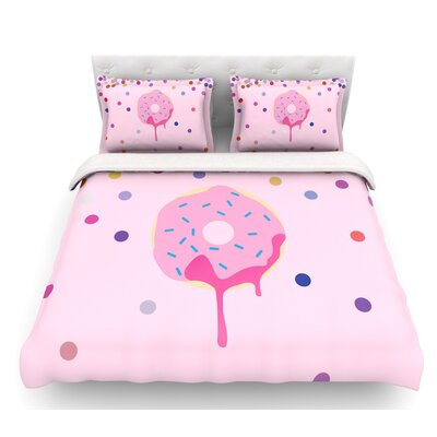Sprinkles  Food Featherweight Duvet Cover Size: Twin