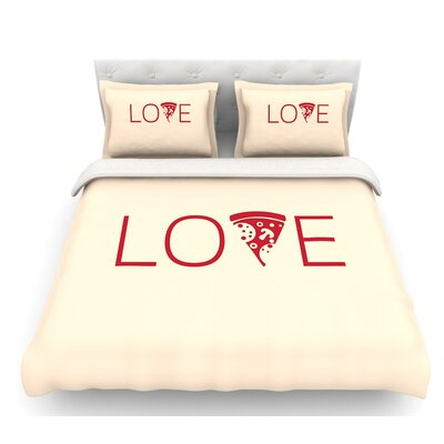 Slice of Love  Featherweight Duvet Cover Size: Queen