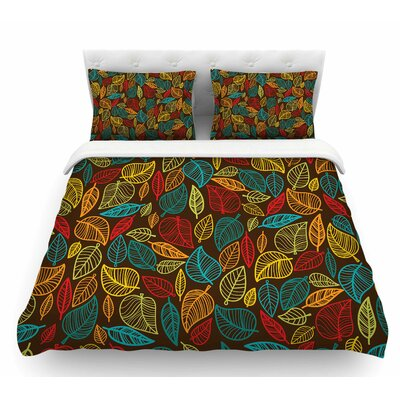 Leaves All Around  Featherweight Duvet Cover Size: Twin