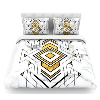 Geo Marble Graphic  Tribal Featherweight Duvet Cover Size: Queen