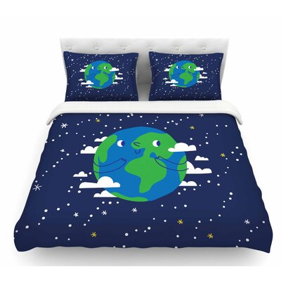 Happy Earth  Featherweight Duvet Cover Size: Twin