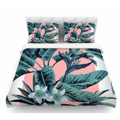 Monstera  Nature Pop Art Featherweight Duvet Cover Size: Queen
