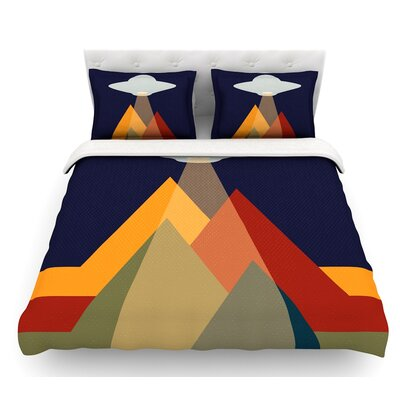 Abduct Me  Geometric Fantasy Featherweight Duvet Cover Size: Queen