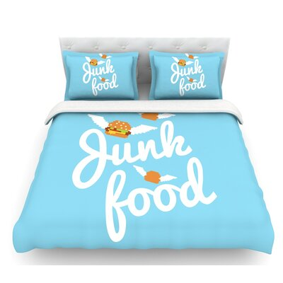 Junk Food  Burger Featherweight Duvet Cover Size: Queen