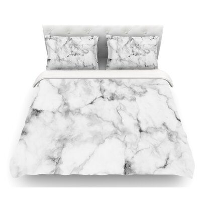 Marble  Featherweight Duvet Cover Size: Queen