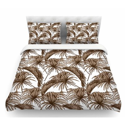 Palmtastic  Featherweight Duvet Cover Color: Tan/Brown, Size: Twin