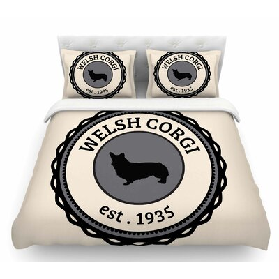 Welsh Corgi  Dog Featherweight Duvet Cover Size: Twin
