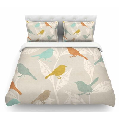 Tweet  Pastel Nature Featherweight Duvet Cover Size: Queen