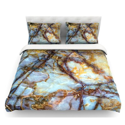Opalized Marble  Featherweight Duvet Cover Size: Queen