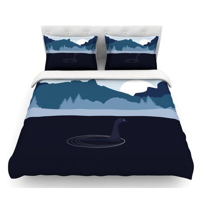Swimming with Nessie  Fantasy Featherweight Duvet Cover Size: King