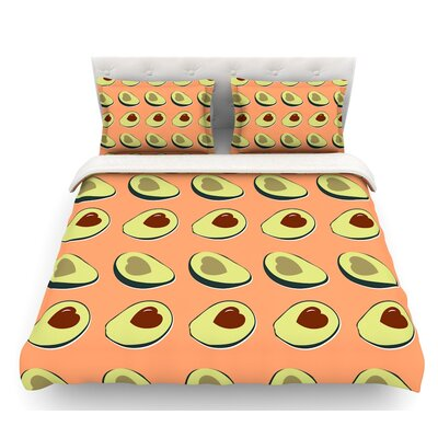 Avacado Love  Food Featherweight Duvet Cover Size: Twin