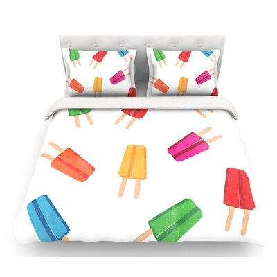Raining Popsicle  Digital Featherweight Duvet Cover Size: Twin