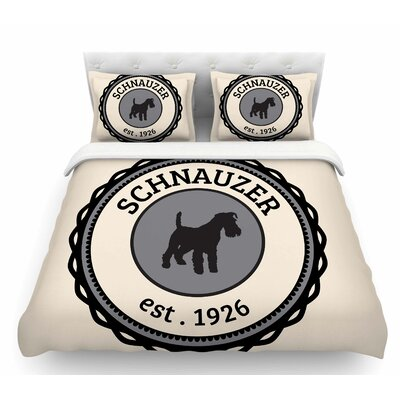 Schnauzer  Featherweight Duvet Cover Size: Queen