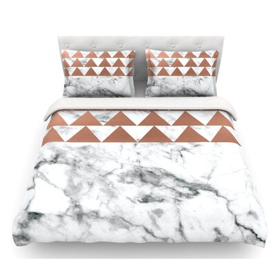 Marble and Metal  Featherweight Duvet Cover Size: Queen
