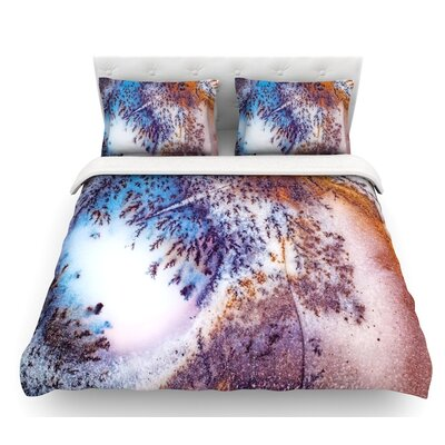 Snow Agate  Featherweight Duvet Cover Size: Queen