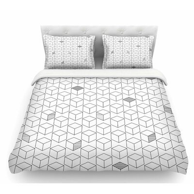 Shade Cubed  Featherweight Duvet Cover Size: Queen