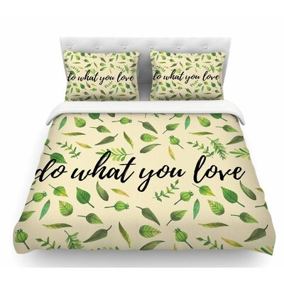 Do What You Love  Featherweight Duvet Cover Size: Twin