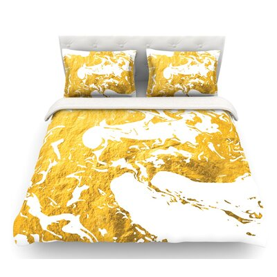 Ink on Water  Metal Featherweight Duvet Cover Size: Twin