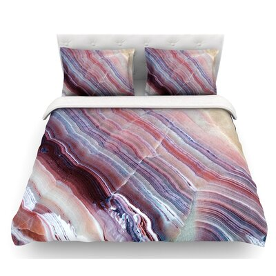 Sunrise Agate  Featherweight Duvet Cover Size: King