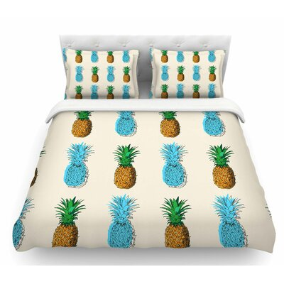 Fineapple  Food Abstract Featherweight Duvet Cover Size: King