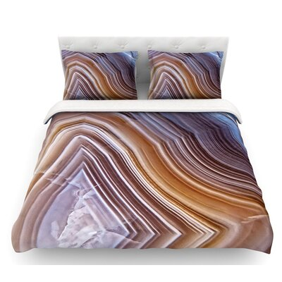 Pale Layered Agate  Featherweight Duvet Cover Size: Twin