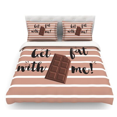 Get Fat  Featherweight Duvet Cover Size: King