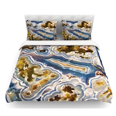Agate  Nature Featherweight Duvet Cover Size: Queen