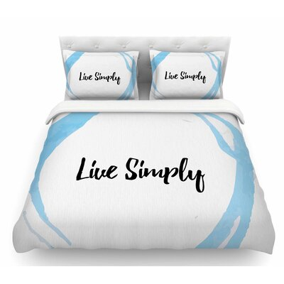 Live Simply  Featherweight Duvet Cover Size: Queen