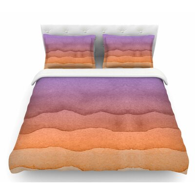 Ombre  Featherweight Duvet Cover Size: King, Color: Orange