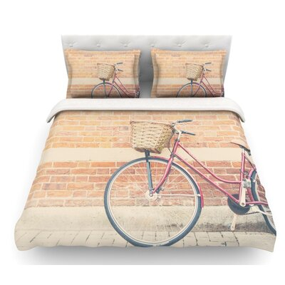 A Bicycle by Laura Evans Featherweight Duvet Cover Size: Twin