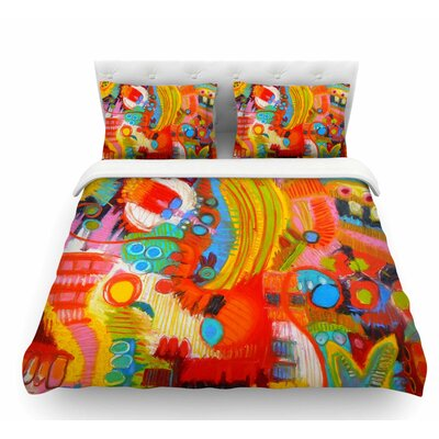Flower Power by Jeff Ferst Abstract Featherweight Duvet Cover Size: King