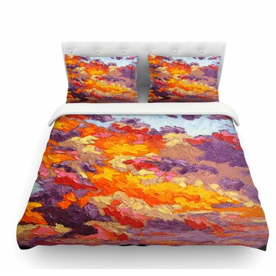 Evening Sky Sunset Sky Featherweight Duvet Cover Size: King