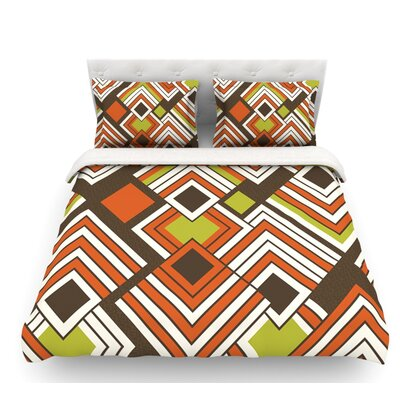 Luca by Jacqueline Milton Featherweight Duvet Cover Color: Brown/Orange, Size: King