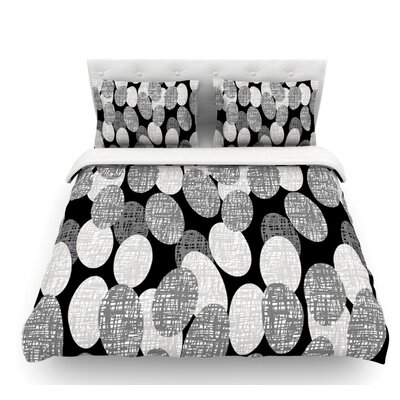 Seeds Monochrome by Jacqueline Milton Featherweight Duvet Cover Size: King, Fabric: Woven Polyester