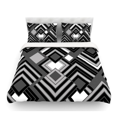 Luca by Jacqueline Milton Featherweight Duvet Cover Color: Monochrome/Black/White, Size: Queen