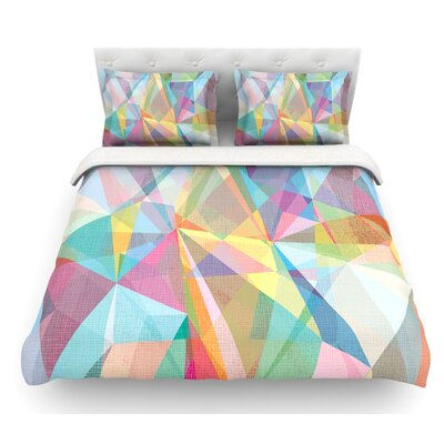 Graphic 32 by Mareike Boehmer Abstract Featherweight Duvet Cover Size: Twin, Fabric: Lightweight Polyester