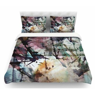 Abstract Trees by Malia Shields Abstract Featherweight Duvet Cover Size: King