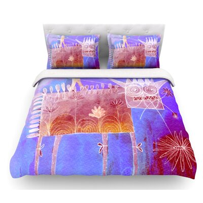Scary Song About Love by Marianna Tankelevich Featherweight Duvet Cover Size: King