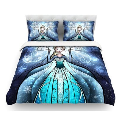 The Snow Queen by Mandie Manzano Frozen Featherweight Duvet Cover Size: King, Fabric: Lightweight Polyester