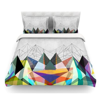 Colorflash 3X by Mareike Boehmer Featherweight Duvet Cover Size: King/California King, Fabric: Woven Polyester
