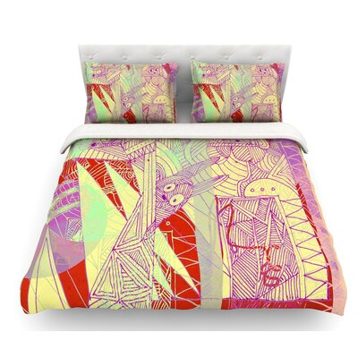 Bunny Land by Marianna Tankelevich Rabbits Featherweight Duvet Cover Size: Twin