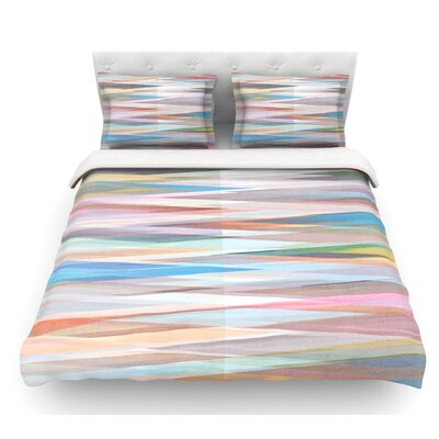 Nordic Combination II by Mareike Boehmer Abstract Featherweight Duvet Cover Size: King/California King, Fabric: Woven Polyester