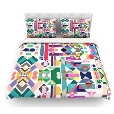 Geometry 2B by Mareike Boehmer Abstract Featherweight Duvet Cover Size: Twin, Fabric: Woven Polyester
