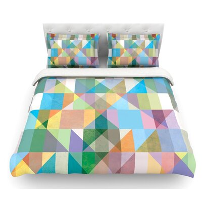 Graphic 74 by Mareike Boehmer Abstract Featherweight Duvet Cover Size: King/California King, Fabric: Woven Polyester